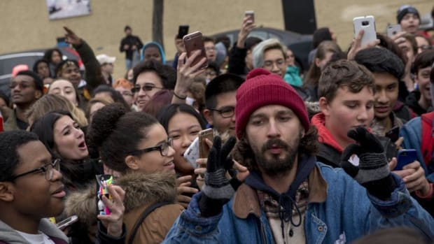 NYPD To Watch Shia LeBeouf After Protest Incident (Video) Promo Image