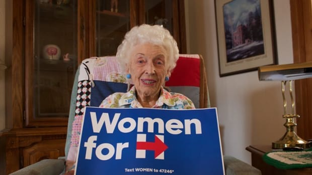 Woman Born Before Suffrage Casts Ballot For Clinton Promo Image