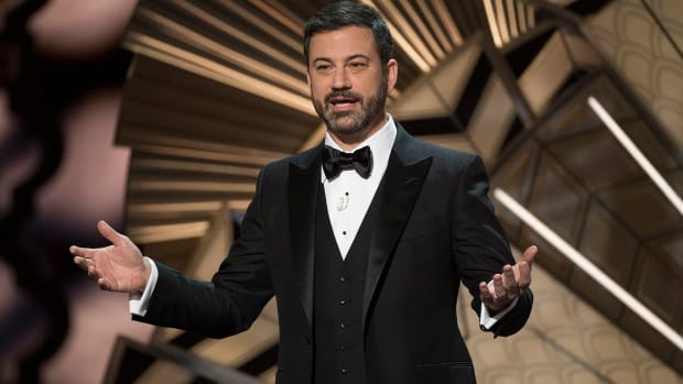 Tearful Jimmy Kimmel Talks About Health Care With Son (Video) Promo Image