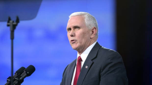 Pence On Charlottesville: 'I Stand With The President' Promo Image