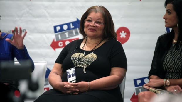 Alveda King Joins Trump At Football Game, Supports Him (Photos) Promo Image