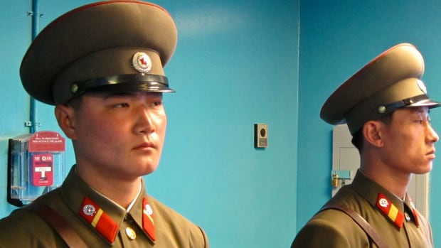 North Korean Soldier Shot While Defecting To South (Video) Promo Image