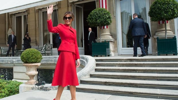 Melania Trump Announces First Solo Trip Promo Image