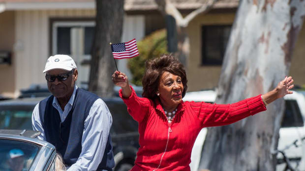 Maxine Waters Says She Will 'Take Trump Out' (Video) Promo Image