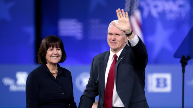 Report: Karen Pence Thinks Trump Is 'Totally Vile' Promo Image