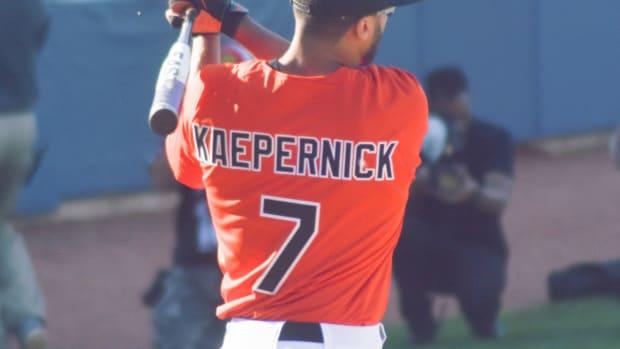 Controversial Sign Criticizes Colin Kaepernick (Photo) Promo Image
