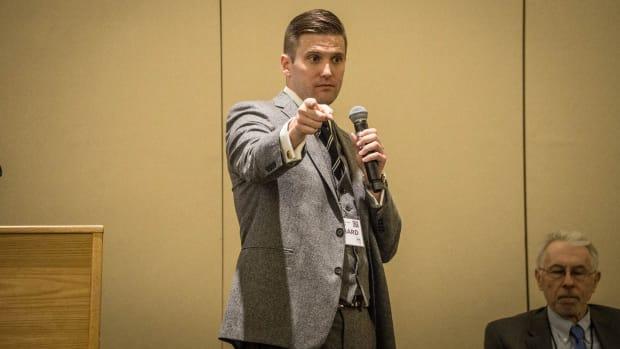 White Supremacist Leader Holds Press Conference Promo Image