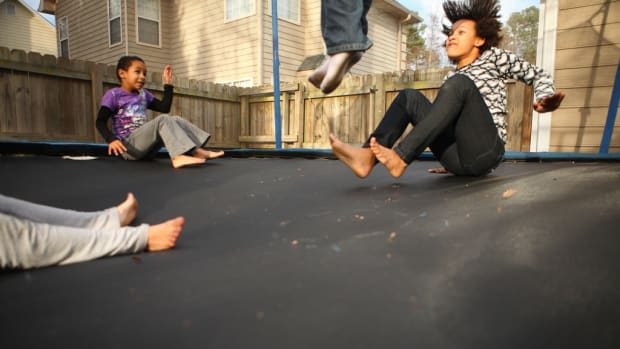 Mom Warns About Trampoline Dangers (Photo) Promo Image