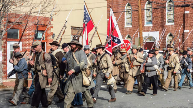 Civil War Re-Enactors Pepper-Sprayed During Parade Promo Image