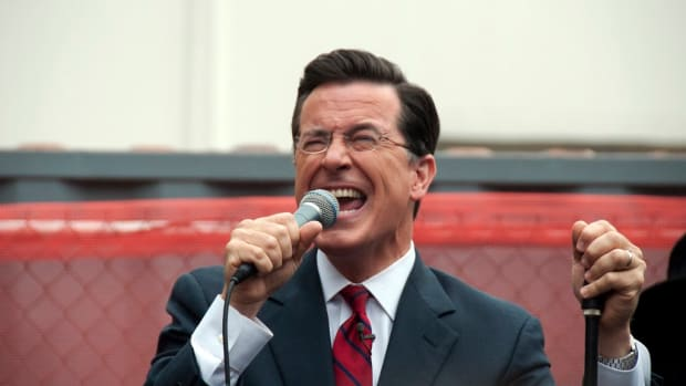 Stephen Colbert Brings Out Sean Spicer At Emmys (Photos) Promo Image