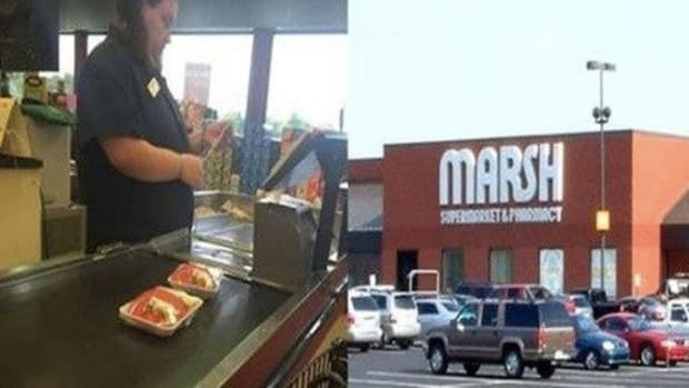 Customer Puts Down Meat At Checkout, Shocked When He Sees How Cashier Responds Promo Image
