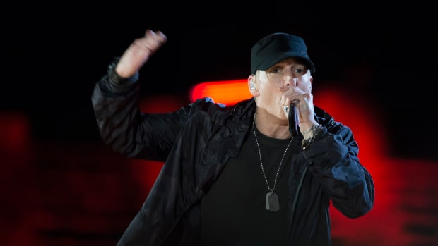 Eminem Leads Anti-Trump Chant During Concert (Video) Promo Image