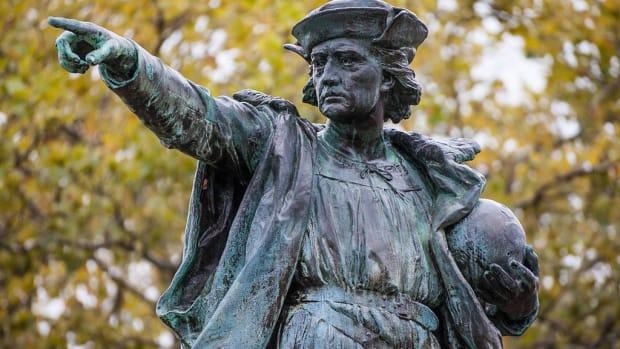 Oldest Columbus Statue In America Vandalized Promo Image