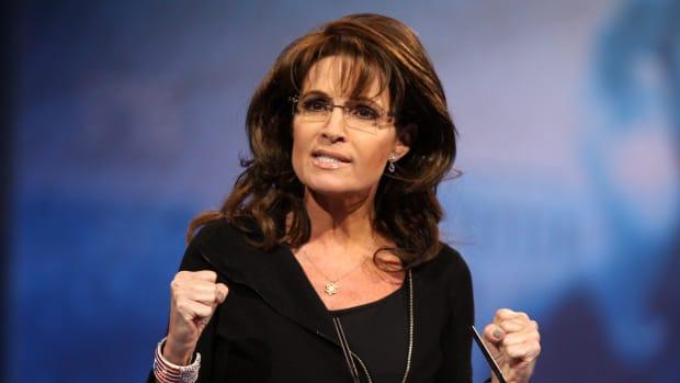 Palin Uses Controversial Slogan To Praise Trump Promo Image
