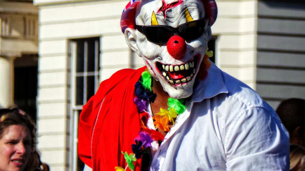 Dad Arrested After Scaring His Daughter With Clown Mask Promo Image