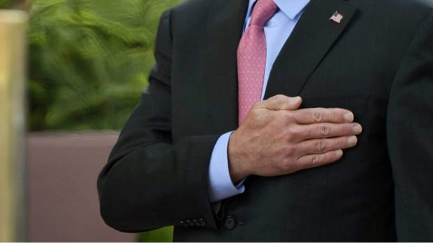 George H.W. Bush's Jacket Has A Hidden Message On It (Photos) Promo Image