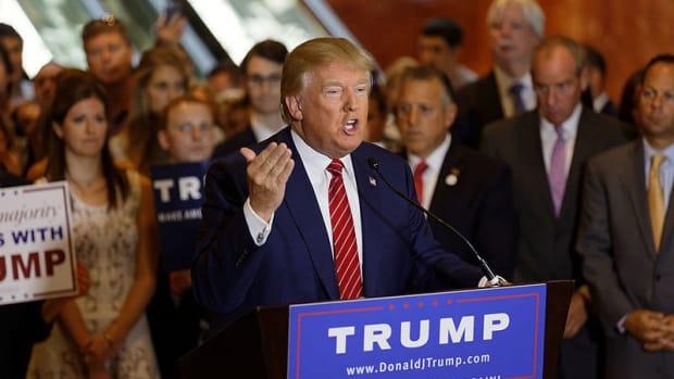 Trump Tweets Picture Of 'Trump Train' Hitting CNN Reporter (Photo) Promo Image
