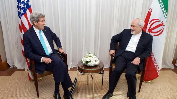 John Kerry and Mohammad Javad Zarif.