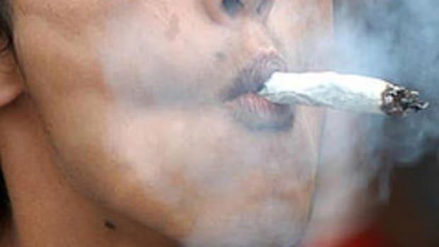 Smoking Marijuana.