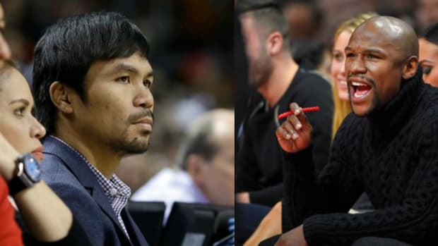 Manny Pacquiao and Floyd Mayweather.