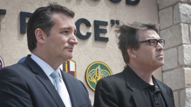 Former Texas Gov. Rick Perry and Sen. Ted Cruz.