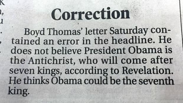 Correction.