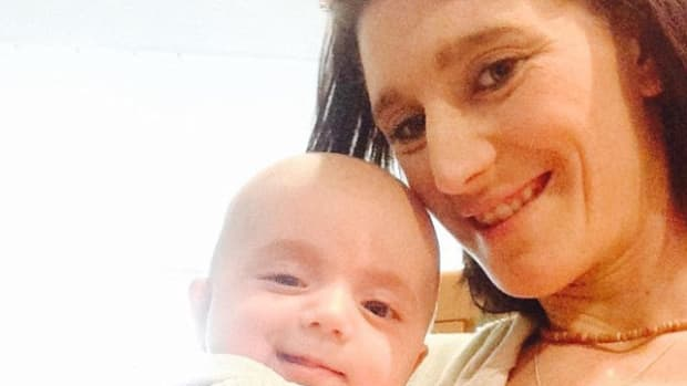 Nikki Kelly And Baby James.