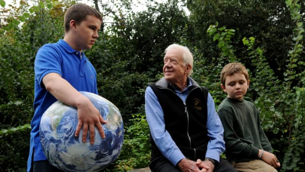 Jimmy Carter And His Grandsons.