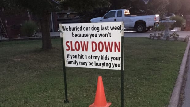 Speeding Sign.