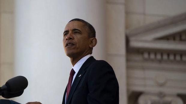 President Barack Obama Speaking On Veterans Day.