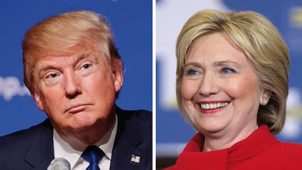Clinton, Trump Roll To Big Wins On Third Super Tuesday Promo Image