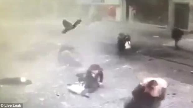 Woman Waves Goodbye Moments Before Explosion (Video) Promo Image
