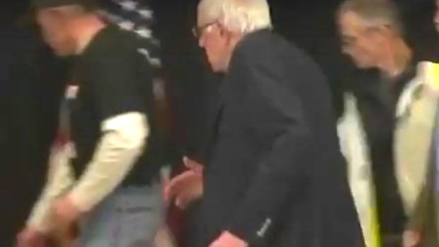 Sen. Bernie Sanders in action