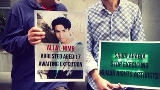 Activists showing solidarity with al-Nimr