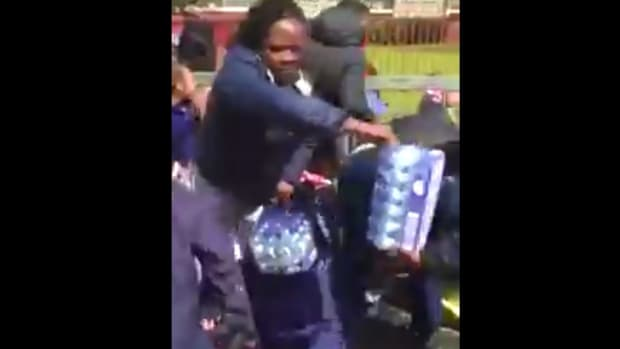 People Steal Water Meant For Marathon Runners (Video) Promo Image