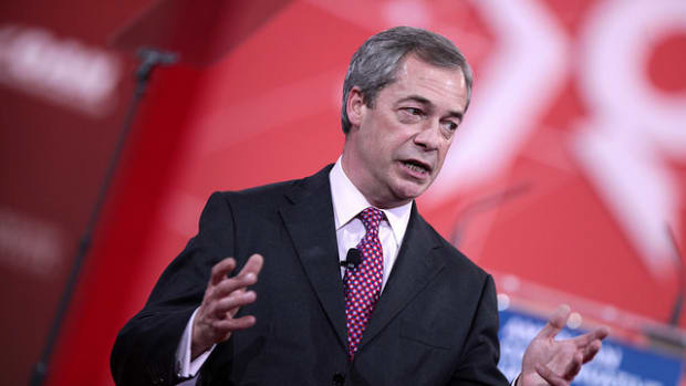 Brexit Leader Nigel Farage Hopes For A Trump Presidency Promo Image