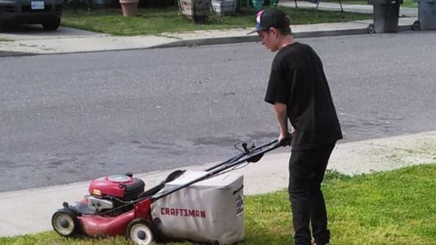 Teen Mows Lawns To Pay For Date With Girlfriend (Video) Promo Image