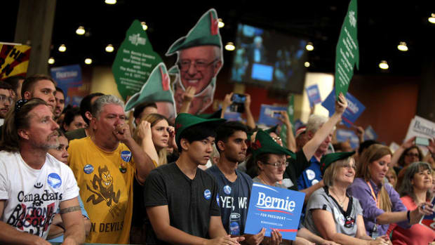 Some Sanders Fans Would Vote Trump Over Clinton Promo Image