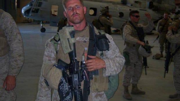 Matthew DeRemer during his marine years