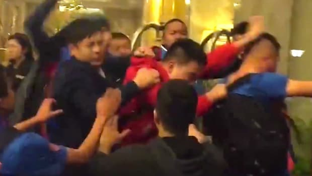 Chinese Basketball Players Fight With Fans (Video) Promo Image