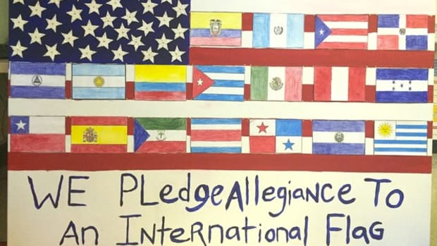 School Kids: 'Pledge Allegiance To International Flag' Promo Image