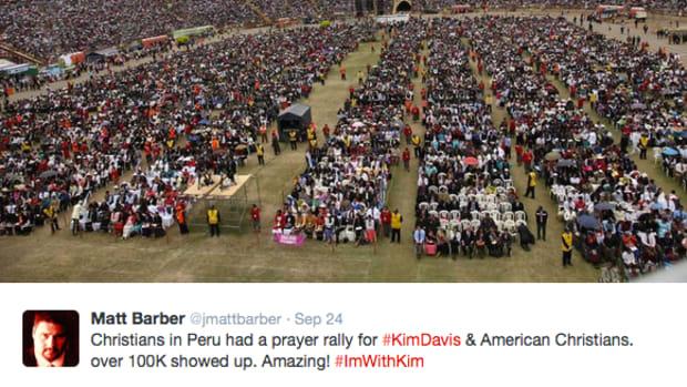 Kim Davis Prayer Rally In Peru From Twitter.