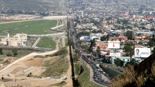 The border between the U.S. and Mexico