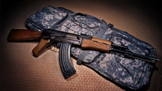AK-47 Rifle.