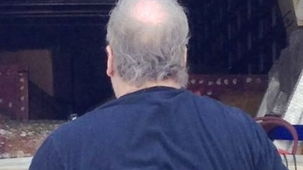 back of middle-aged man's head