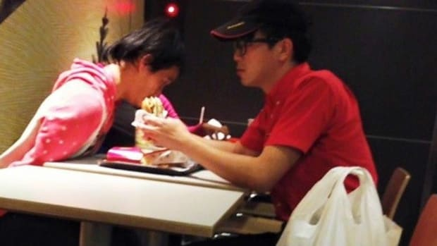 McDonald's Employee Helps Disabled Customer Eat Promo Image