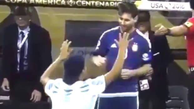 Soccer Fan Stops Game To Praise Player On Field (Video) Promo Image