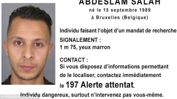 Photo of wanted man Salah Abdeslam, brother of Ibrahim Abdeslam