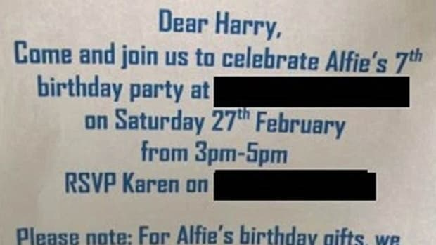 Internet Goes Crazy Over Birthday Party Invite (Photos) Promo Image