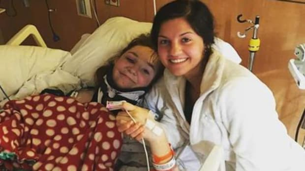 Hannah Smith in the hospital after car crash
